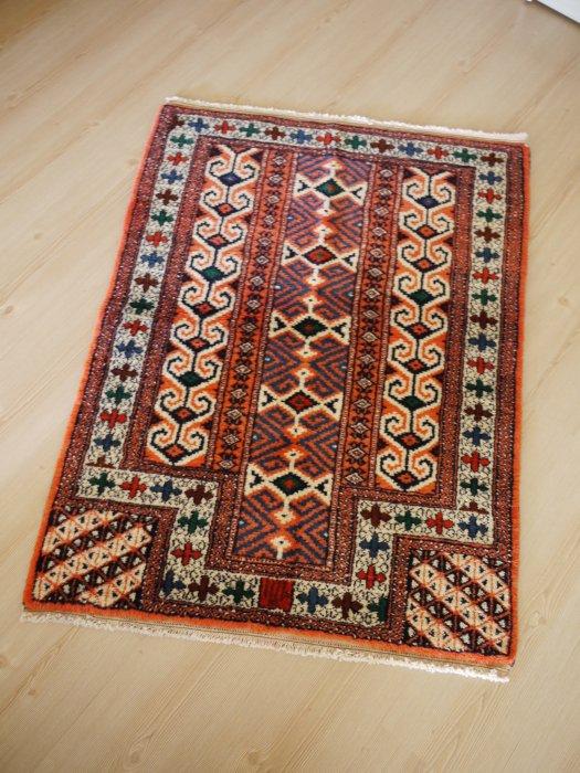 オールド絨毯 オレンジ色のトルクメン 約113×88