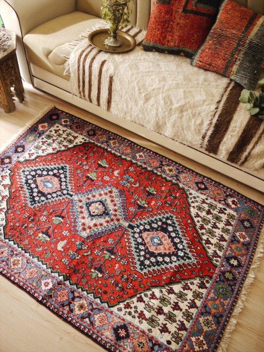 ヴィンテージラグ ペルシャ ノマド絨毯  約154×108