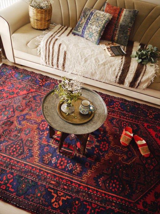 ヴィンテージラグ ペルシャ絨毯 ハマダン  約240×144