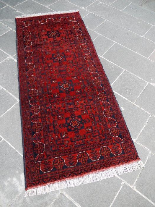 新しい絨毯 大人の絨毯 アフガン ビリジック ランナー  約198×84