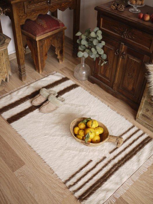手織りブランケット シールト バッター二エ  約122×73
