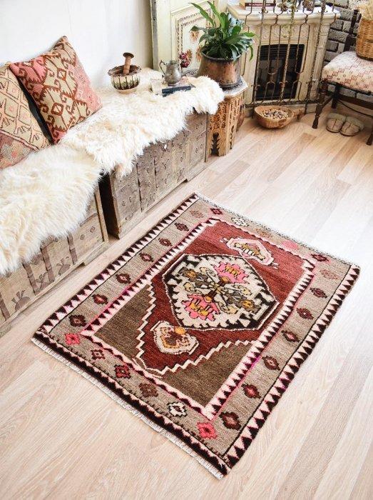オールド絨毯 もこもこカルス  約116×96