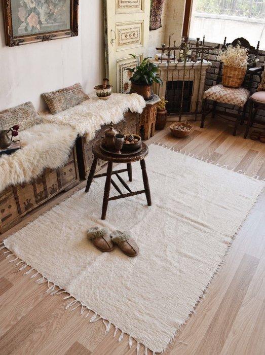 手織りブランケット シールト バッター二エ  約184×120