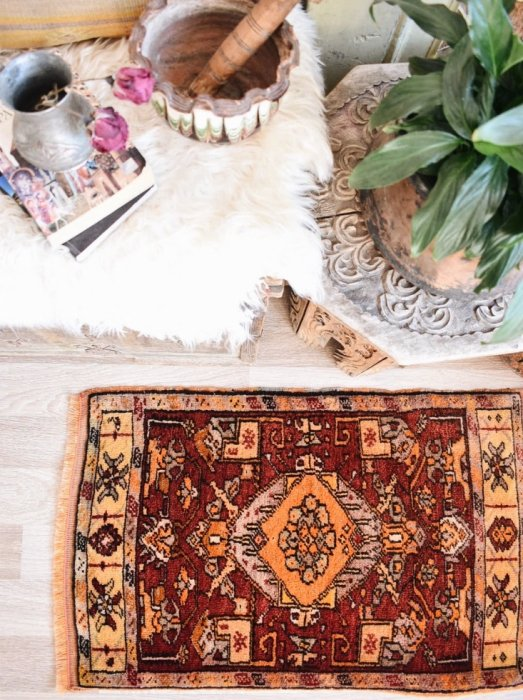 セミアンティーク絨毯 コンヤ カラプナル ヤストゥック   約89×57