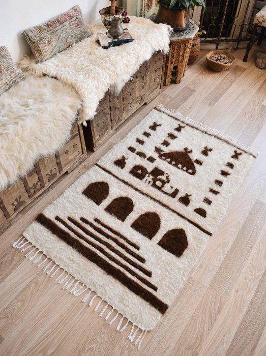 手織りブランケット シールト バッター二エ  約130×80