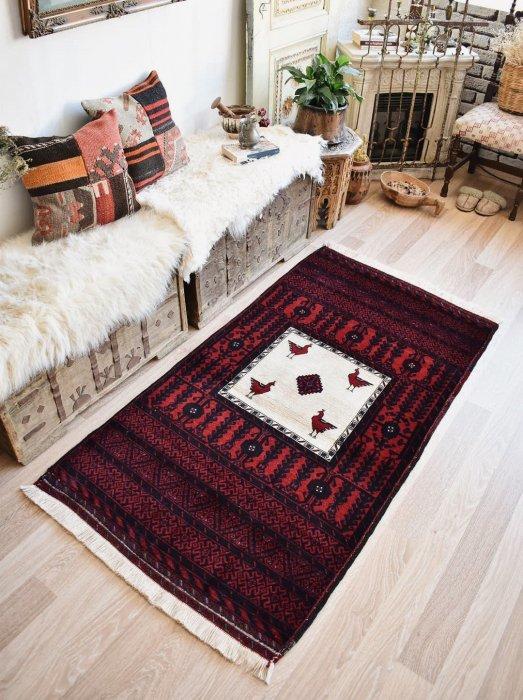 ペルシャ産 オールド絨毯 バルーチ  約170×90