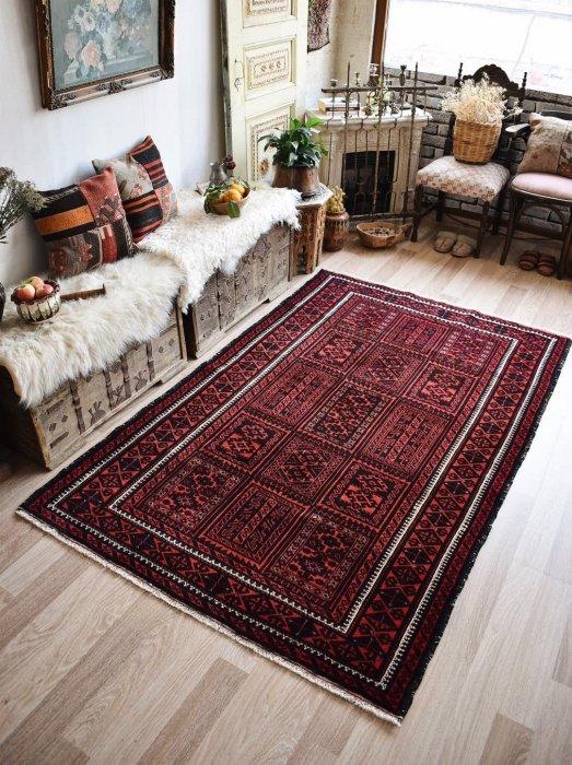 ペルシャ産 オールド絨毯 バルーチ  約210×134