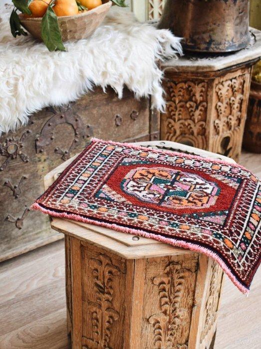 オールド絨毯 ミニミニトルクメン 約42×26
