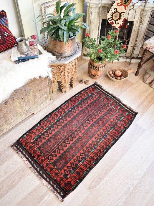 オールド絨毯 アフガン バルーチ 約100×60