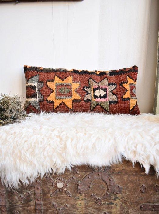 オールドキリム クッションカバー Kilim Lumbar Pillow 30×60�018