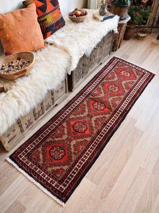 オールド絨毯 バルーチ ランナー  約175×55