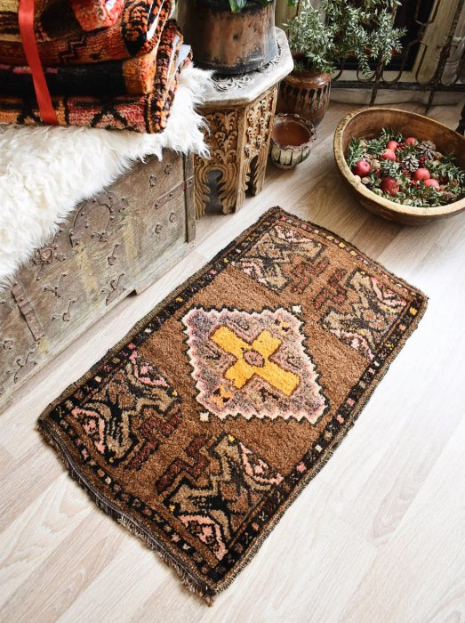 オールド絨毯 ヤストゥック カルス 約91×56