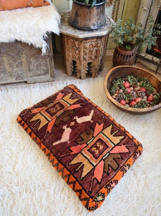 オールド絨毯 ピローカバー カルス  73×51�