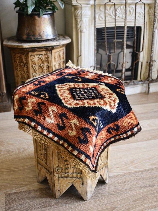 オールド絨毯 エラズー バッグフェイス 約45×50