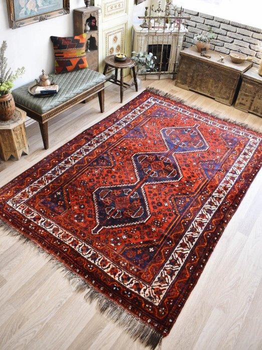 ペルシャ産オールド絨毯 シラーズ約250×171