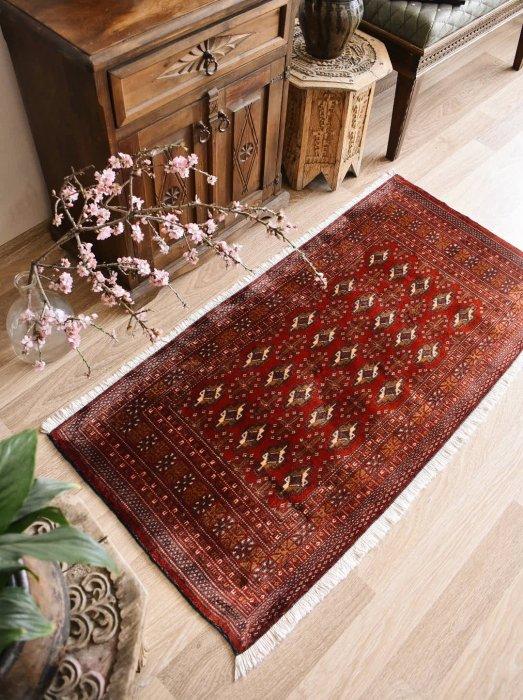 オールド絨毯 トルクメン 約135×65