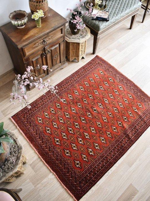 オールド絨毯 トルクメン 約142×110