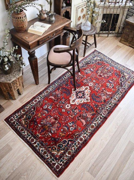 ペルシャ産 オールド絨毯 リリアン約200×97