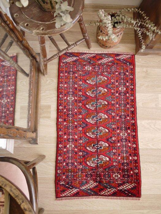 オールド絨毯 トルクメン ブハラ  約100×57
