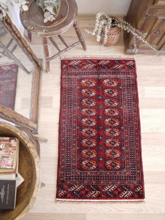 オールド絨毯 トルクメン ブハラ  約115×65