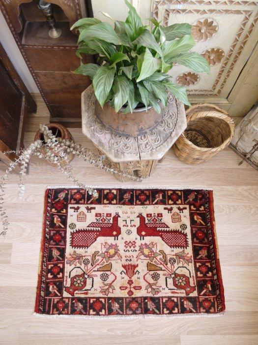 オールド絨毯 ミニバルーチ  約86×59