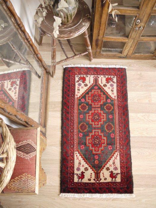 ペルシャ産オールド絨毯 バルーチ  約107×55