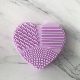 Purple Heart Brush Cleaning Silicone Glove|ハンディーシリコン ブラシクリーナー(ハート型・パープル)