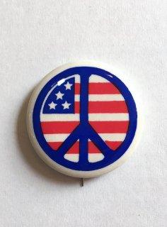 1970's PEACE-SIGN / STARs & STRIPEs pinback button