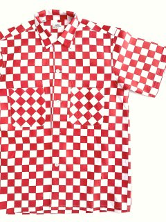 1960's deadstock checkered-flag pattern s/s shirts