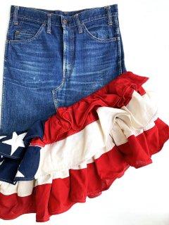 1970's LEVI'S BIG E × USA FLAG remake skirt