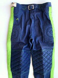 1970's denim motocross pants by