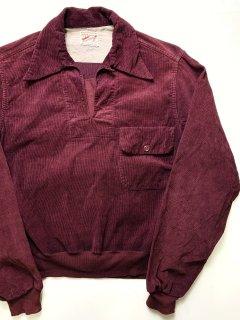 〜1960's corduroy burgundy SHIRTs by