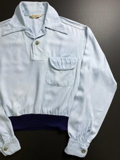 〜1960's rayon light-blue SHIRTs by