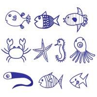 ワンコイン・デザインPack12(海のいきもの 10種類)