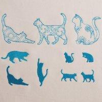 ワンコイン・デザインPack22(猫シルエット 10種類)