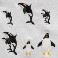 ワンコイン・デザインPack49(水族館A  シャチ&ペンギン 6種類)
