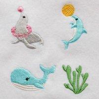 ワンコイン・デザインPack50(水族館B  アシカ・イルカ・クジラ・海藻 4種類)