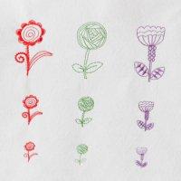 ワンコイン・デザインPack51(お花A  9種類)