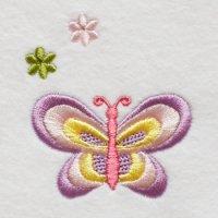 ワンコイン・デザインPack77(蝶々とお花 2種類)
