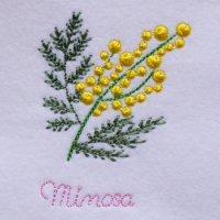 ワンコイン・デザインPack79(ミモザアカシアの花 3種類)