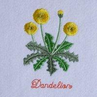 ワンコイン・デザインPack93(たんぽぽ  3種類)刺繍データ