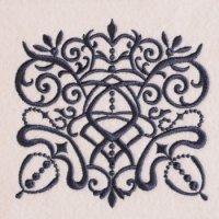 ワンコイン・デザインPack111(ダマスク柄風モチーフ)刺繍データ