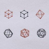 ワンコイン・デザインPack128(幾何学模様(きかがく) 6種類)刺繍データ