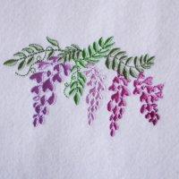 ワンコイン・デザインPack129(藤の花 6種類)刺繍データ