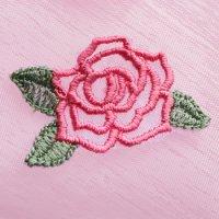 ワンコイン・デザインPack133(オーガンジー薔薇 6種類)刺繍データ
