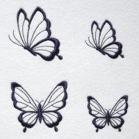 ワンコイン・デザインPack142(蝶々A)4種類 刺繍データ