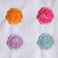 ワンコイン・デザインPack145(ラッキーモチーフのシーリングスタンプ)4種類 刺繍データ