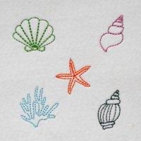 ワンコイン・デザインPack148(海のいきものB)5種類 刺繍データ