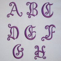 ワンコイン・デザインPack152(アルファベットC-1)A~Hの8文字  刺繍データ