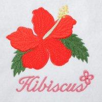 ワンコイン・デザインPack153(ハイビスカス)3種類  刺繍データ